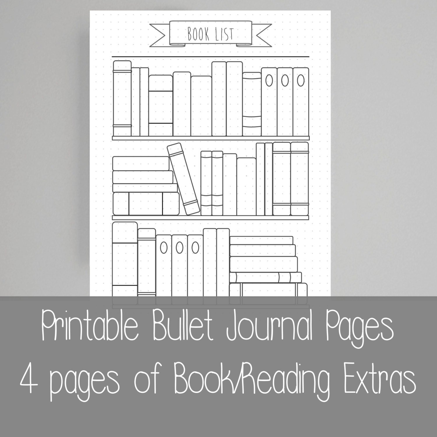 Ridiculous image with bullet journal books to read printable