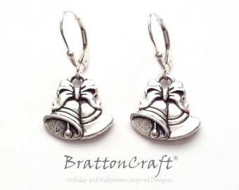 Silver Bells Earrings - Holiday Gifts - Holiday Earrings  - Christmas Earrings - Wedding Bells Earrings - Epsteam