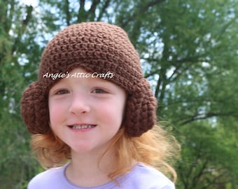 ANY SIZE Princess Leia Inspired Wig Hat - Star Wars - Halloween Costume - Photo Prop - Sci-Fi Beanie - Baby/Toddler/Child/Adult Sizes -