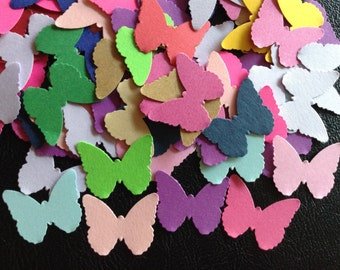 100 Butterfly Die Cuts, Assorted Colors, Confetti, Cardmaking, Scrapbooking,