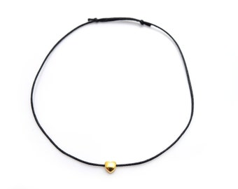 Anklet gold plated heart