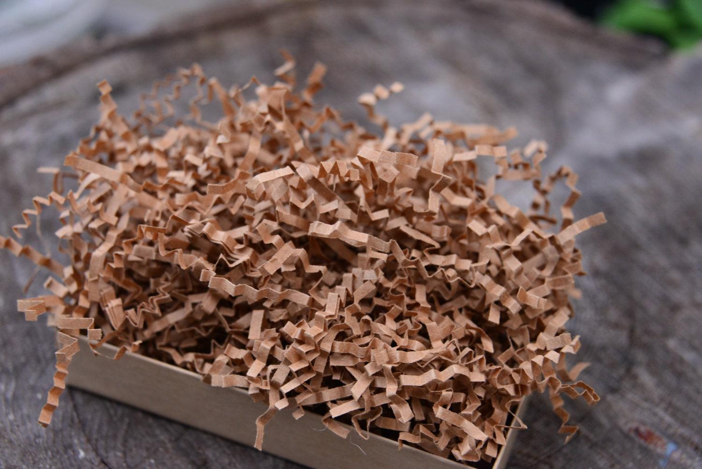 shredded paper 8 oz kraft brown recycled by thegypsymoonstore. Black Bedroom Furniture Sets. Home Design Ideas