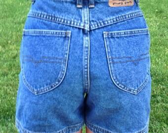High Waist Denim Blue Jeans