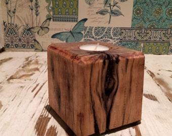 Reclaimed pallet block - tea light candle holder