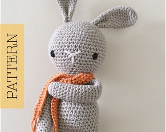 Crochet Amigurumi Cute Bunny PATTERN ONLY, Crochet Stuffed Animal, pdf Bunny Rabbit Pattern