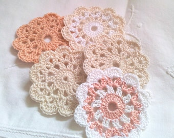 Application, crocheted flowers, decoration, material