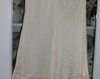 SALE Vintage Off White Culotte Slip Medium
