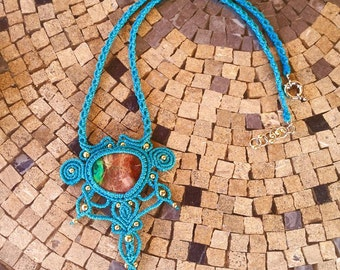 Macrame necklace with CRISOPALE messicanahttps