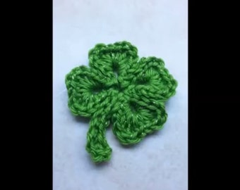 Crochet Shamrock pattern / Four leaf Clover  St. Patricks Day DIGITAL DOWNLOAD ONLY