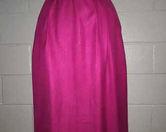 Magenta Silk High-Waist Pencil Skirt by {IRKA} Size 4/6
