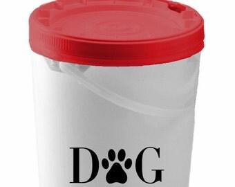 Dog Treats Decal, Dog Treat Storage Decal, Dog Treat Container Decal, Dog Decal, Dog Stickers, Vinyl Decal, Vinyl Stickers