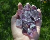 3pcs Fantastic Purple Fluorite octahedron, Raw Purple Fluorite octahedron, Raw crystals, Healing stone, gemstone, Chakra, Deep Purple