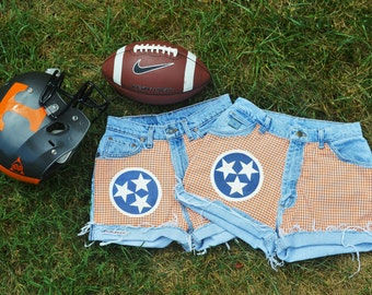 Tennessee Vols Tri-star Custom Made High Waisted Shorts