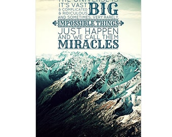 Doctor Who Quote Poster / Print / Canvas Travel Eleventh Doctor Whovian New Zealand Mountains
