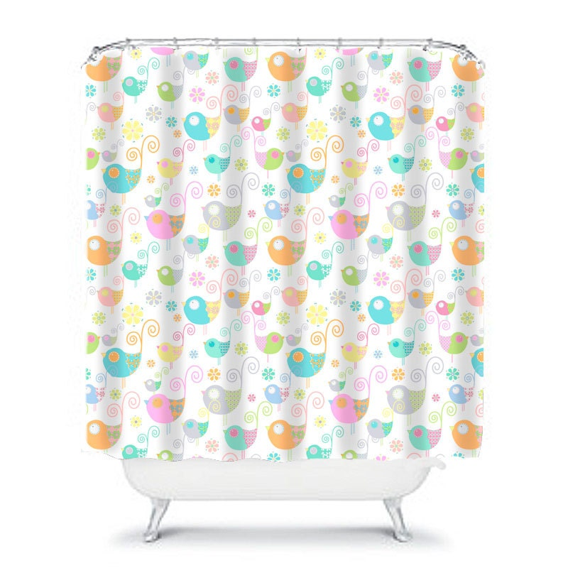 kids shower curtain birds shower pretty bathroom decor girls