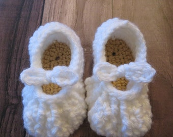 White Baby Crochet Shoes Sandals Newborn