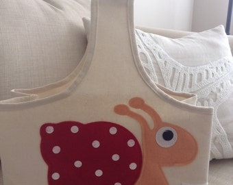 Adorable Snail Storage/tote Bag