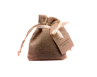 Tea Wedding Favours - Hessian Bags