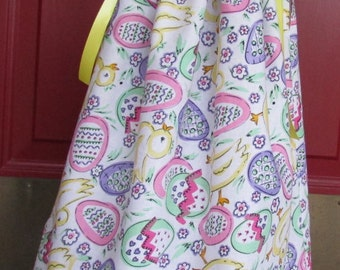 Easter Egg Dress, Easter Dress, Size 12 to 18 month Dress, Ready to Ship Dress