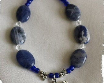 Sodalite and Dragonflies