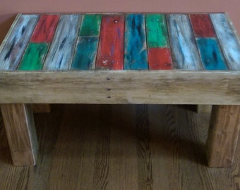 Rustic Wood Bench, reclaimed pallet wood, Entryway Bench, Outdoor Bench, Rustic Wood Furniture