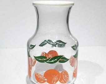 Vintage Anchor Hocking Juice Carafe Oranges Motif