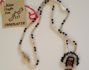 Vintage Native American Bead Doll Necklace