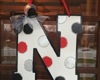 Nebraska Door Hanger (Polka Dot)