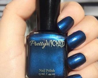 Dark Prussian Blue Nail Polish, Cordelia Polish, Blue Nail Polish, Metallic Blue Nail Polish, Shimmer Nail Polish, Dark Nail Polish