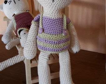 Cat girl. Cat crochet. AMIGURUMI