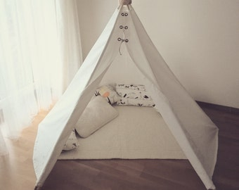 Linen teepee-kids teepee tent-play tents-teepees-childrens teepee-kids & SPECIAL OFFER from bubble shelter teepee kids teepee play