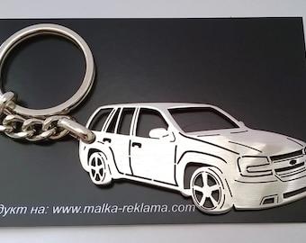 chevy keychain, chevy, Chevrolet keychain, Chevrolet TrailBlazer SS, Personalized Keyring, Custom Keychain, fathers day gift