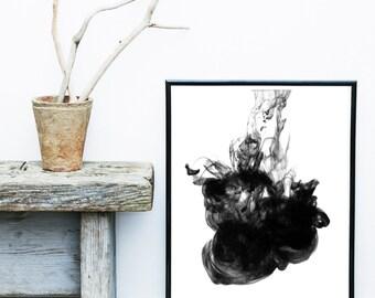 Ink Art, Black Wall Print, Minimalist Art, Abstract Art Print, Scandinavian Art, Art Print, Giclee print, Wall Art, Poster, Wall Decor