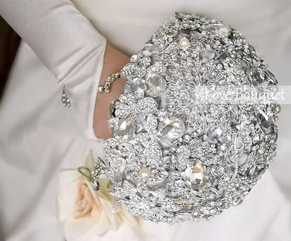 SALE Jewelry Wedding Brooch Bouquet Crystal Wedding By LoveBouquet