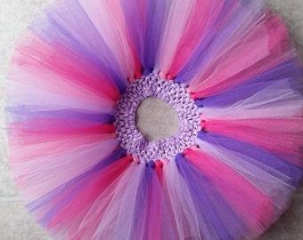 Hotpink and purple tutu, hotpink tutu, purple tutu, Vday tutu, Valentine's Day tutu, Valentine tutu, cake smash, birthday tutu, photo prop