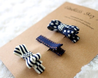 Baby hair clip, toddler hair clip, blue hair clips, baby accessories, hair clips for girls, baby girl hair clips, baby girl bows