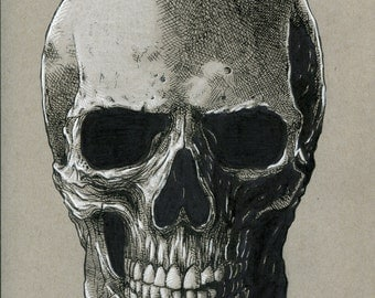 Original Hand Drawn Skull