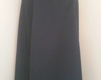 1940's flared skirt Navy Polyviscose 32 inch waist
