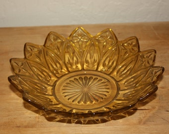 Yellow Glass Candy Dish