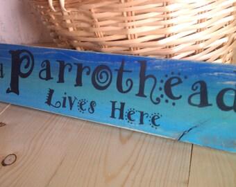 Beach Sign, Parrothead, Jimmy Buffett, Beach House Decor, Tiki Bar Sign, Gift for Parrothead, Aqua, Blue, Turquoise, Teal