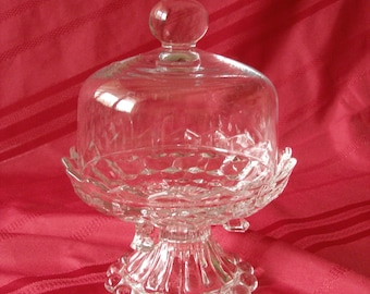 Glass Dish with Dome