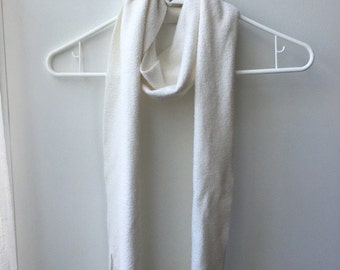 Cream Colored Fleece Scarf
