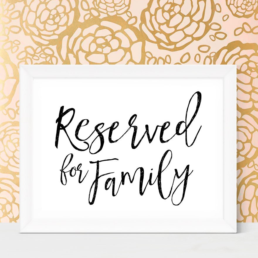 Playful image within printable reserved table sign