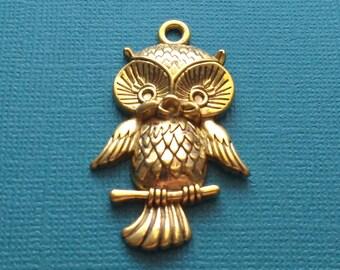 10 Owl Pendant Gold Tone - CG2518