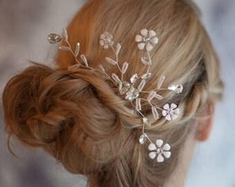 Bridal Flower Hairpin