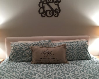 Monogrammed Gift, Door Hanger, Wedding gift, Bridal Shower Gift, Housewarming Gift, New Home Gift, Wood Door Hanger, Office Decor, Girl Room