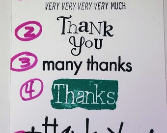 Various Thank You Sentiments Available for Use in My Thank You cards