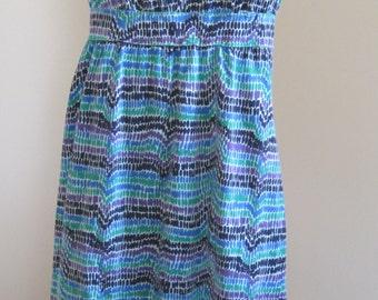Sleeveless Maxi Dress, Liz Claiborne, Cotton, Size M, Vintage