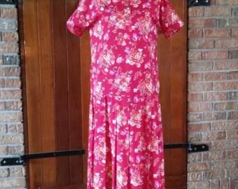 Laura Ashley Floral Print Dress