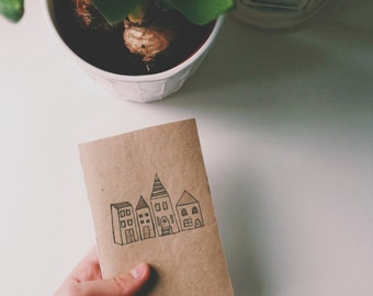 Sketch-book with home